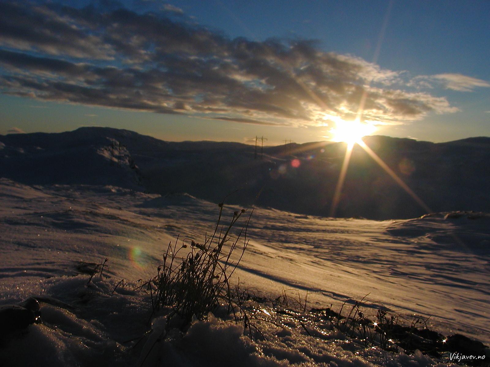 Solnedgang på Ygnesdalsfjellet