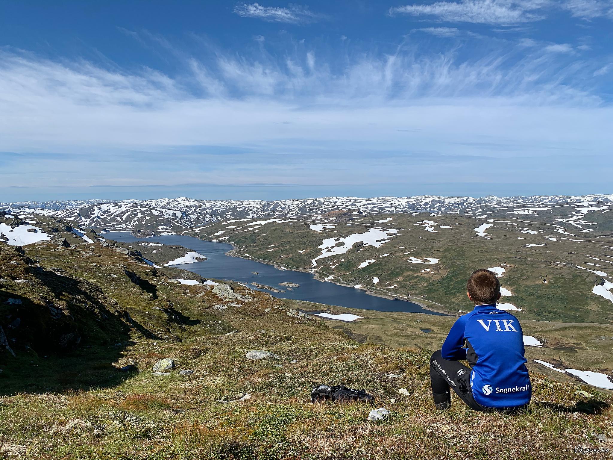Kvilesteinsvatnet frå Skjelinganosi