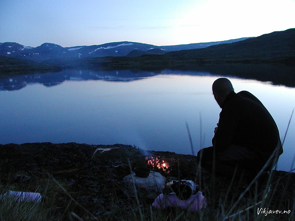 Kveld ved Geitedalsvatnet