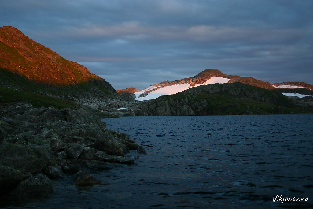 Solnedgang på Fossfjellet