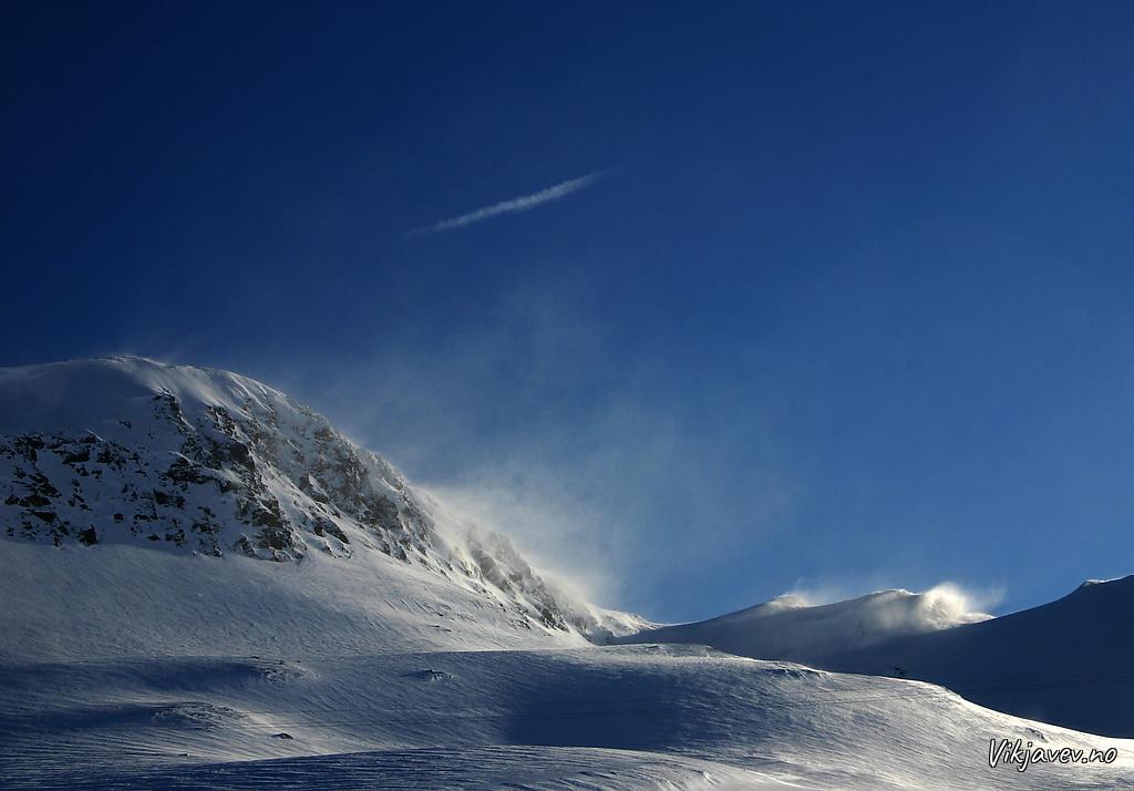 Snøfok på Fossfjellet