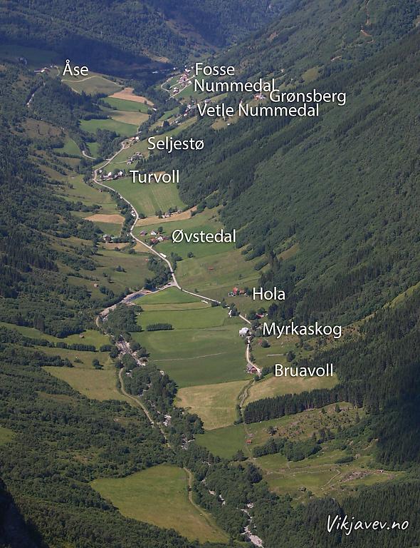 Oversikt: Seljadalen