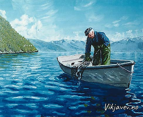 Fiske på Vikjabukti